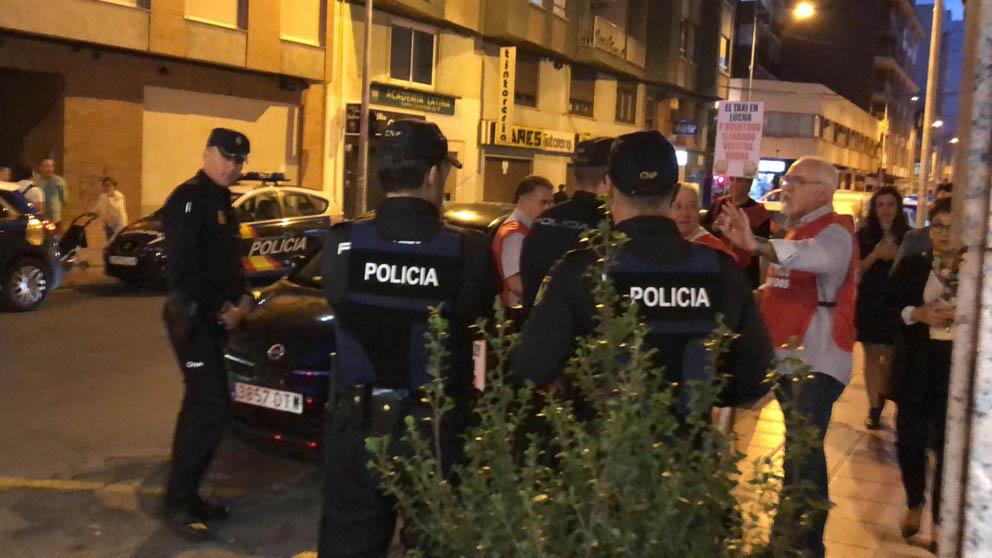 Taxistas valencianos protestan.