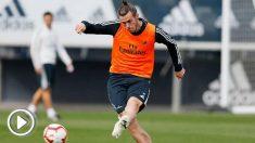 Gareth Bale se entrena con normalidad. (realmadrid.com)