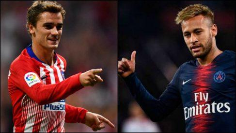 El PSG estaría dispuesto a pagar la cláusula de Griezmann si se va Neymar.