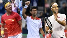 Nadal, Djokovic y Federer. (AFP)