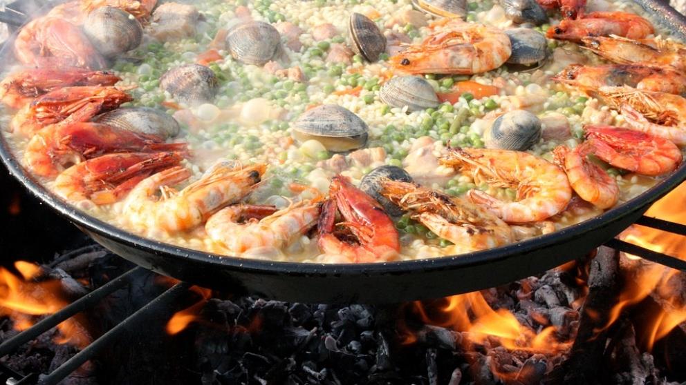 La paella, un plato muy español.