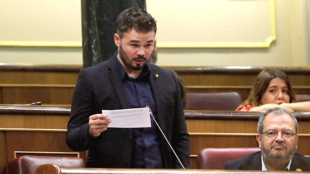 El portavoz adjunto de ERC en el Congreso, Gabriel Rufián. (Foto: EFE)