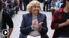 Manuela Carmena en una gala sobre deporte. (Foto. Madrid)