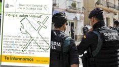 Interior comunica el pago de la equiparación salarial a la Guardia Civil en el mes de octubre