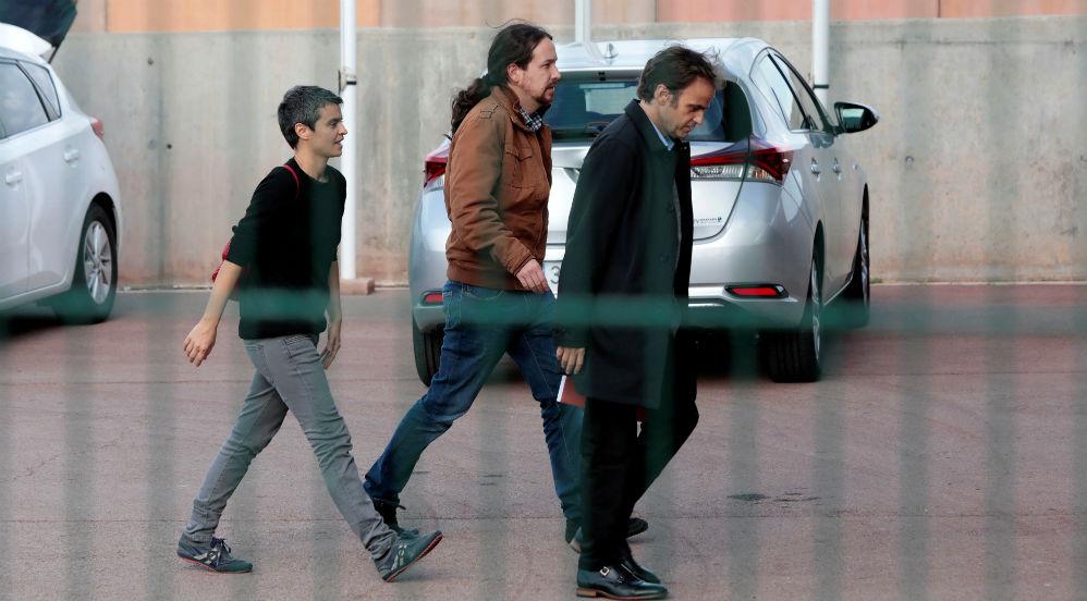 Pablo Iglesias, con Jaume Asens, en la cárcel de Lledoners en una imagen de archivo.
