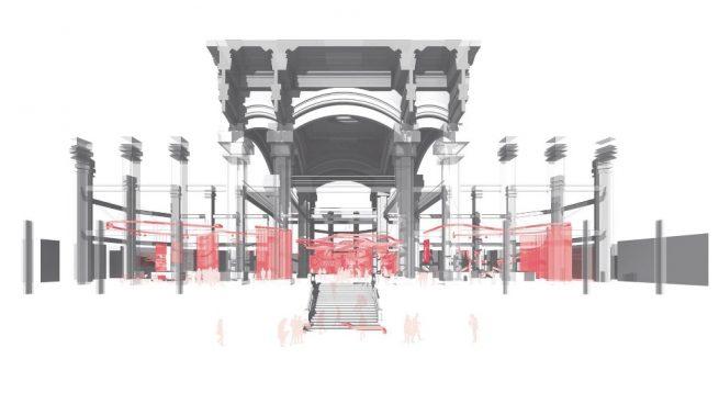 Imagen del proyecto ganador para el Palacio de Cibeles. HFE Architects :Héctor Fernández Elorza