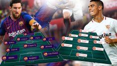 Barcelona y Sevilla se juegan el liderato en el Camp Nou.