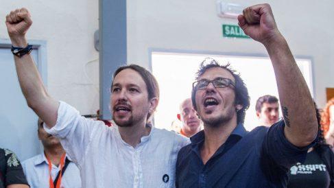 Pablo Iglesias y José María González 'Kichi'.
