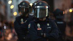 Antidisturbios de la Policía.