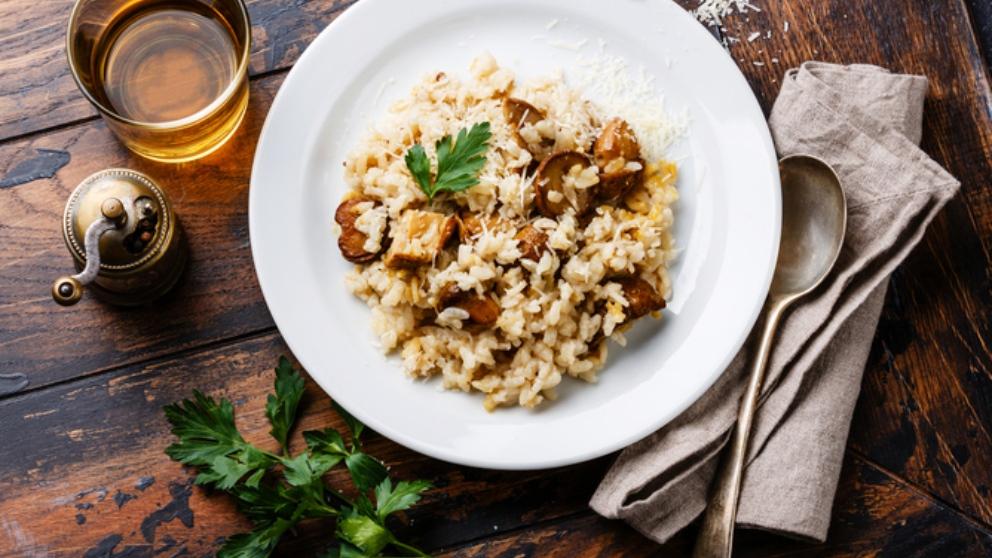 Receta de risotto de trufa y setas