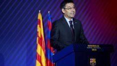 Bartomeu, en la Asamblea General Extraordinaria del Barcelona. (EFE)