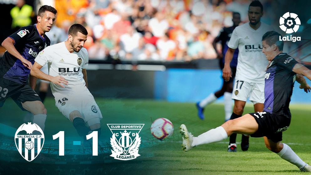 Liga Santander 2018: Valencia – Leganés   Partido de fútbol hoy, en directo.