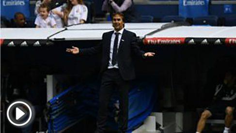 Lopetegui, durante un partido. (AFP)
