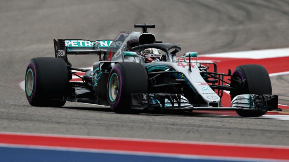 Hamilton, durante el Gran Premio de Fórmula 1 de Estados Unidos. (Getty)