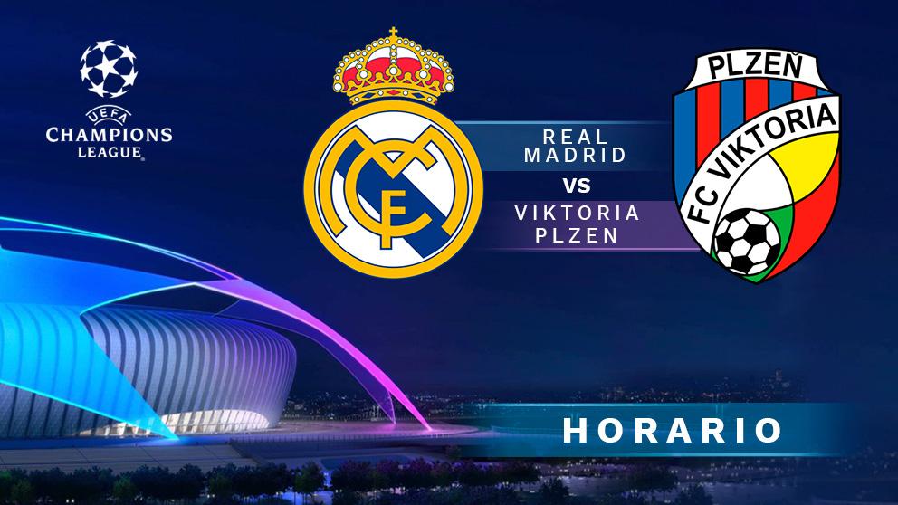 Real Madrid – Viktoria Plzen: partido de la Champions League.
