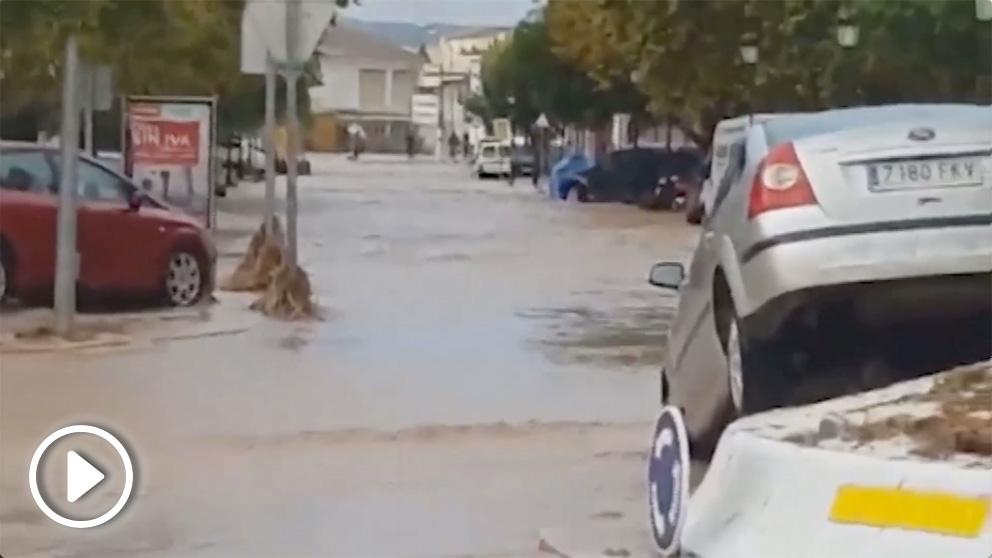 Alerta roja por lluvias en la provincia de Málaga.