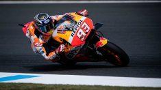 Márquez, en el Gran Premio de Japón. (AFP)