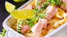 Receta de macarrones con salmón y nata