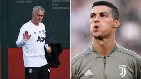 Mourinho y Cristiano Ronaldo, en dos fotos recientes (AFP).