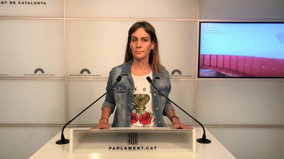 Jessica Albiach, presidenta del grupo parlamentario en Comú Podem. Foto: EP