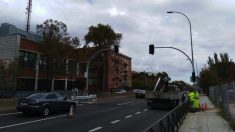 Semáforos en la autopista A-5. (Foto. Twitter)