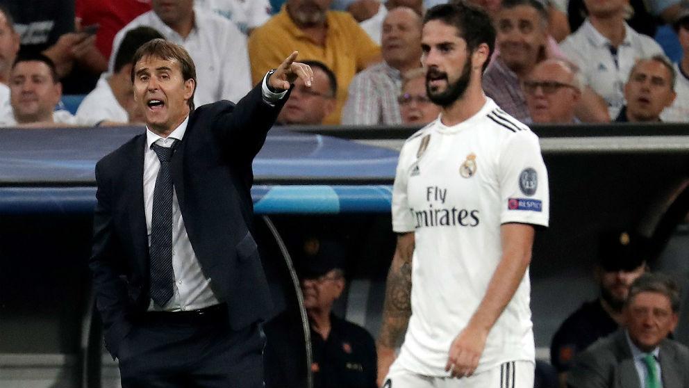 Lopetegui e Isco, en un partido del Real Madrid en Champions League. (Getty)