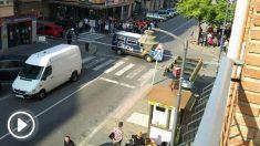 Cordón policial en la que han detenidos a dos presuntos yihadistas españoles