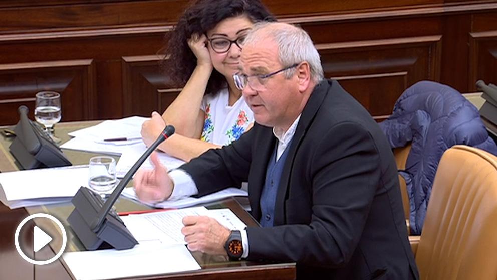 El diputado de Podemos, Alonso Cantorné, este martes en el Congreso