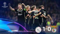 Champions League 2018: Ajax – Benfica | Partido de fútbol hoy, en directo.