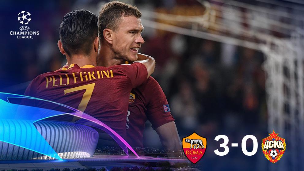Champions League 2018: Roma – CSKA | Partido de fútbol hoy, en directo.