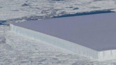 Aparece un misterioso iceberg rectangular en la Antártida