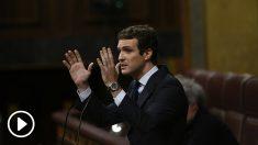 Pablo Casado en la tribuna del Congreso de los Diputados
