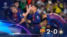 El Barcelona se impuso al Inter gracias a los goles de Rafinha y Jordi Alba.
