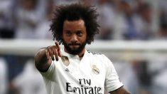 Marcelo, durante un partido del Real Madrid esta temporada (EFE).