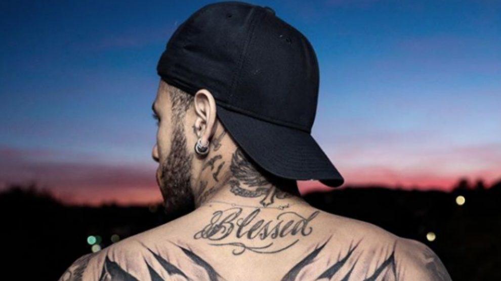 El soprendente tatuaje de Neymar con Batman y Spiderman como protagonistas. (Instagram)