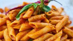 La pasta suele tener mayor número de carbohidratos