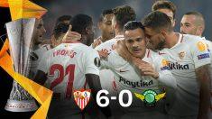 El Sevilla goleó al modesto Akhisar en el Pizjuán.