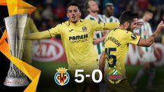 El Villarreal sumó su primera victoria en Europa League tras golear al Rapid Viena