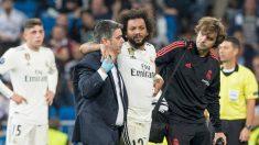 Marcelo se retira lesionado. (EFE)