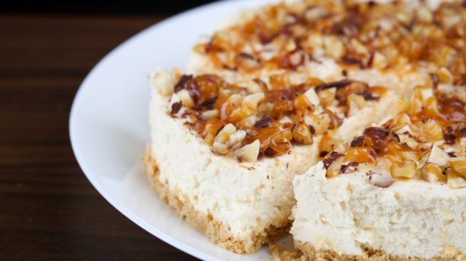 tarta de requesón nueces y miel