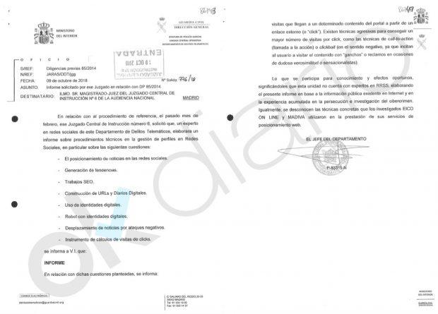 Informe de la UCO en la trama Púnica.