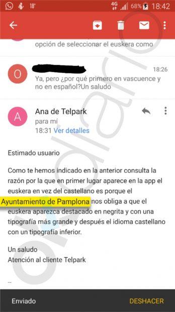 Bildu impone el euskera en los tiques de la ORA en Pamplona ante el cabreo de los vecinos
