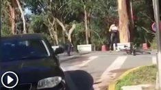 Un ciclista se lió a martillazos con dos ciclistas en Pontevedra.