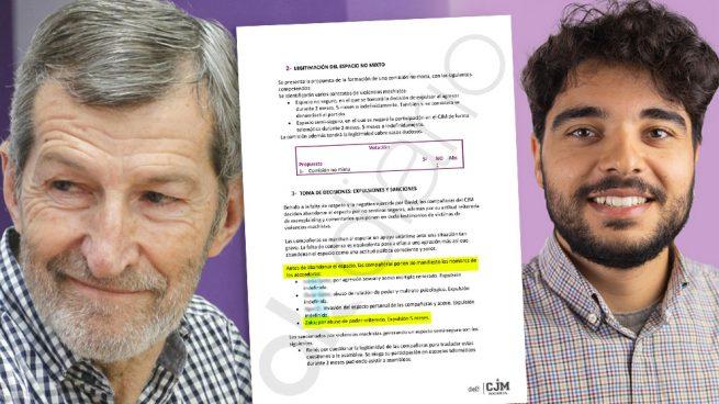 El ex Jemad Julio Rodríguez y el candidato expulsado de las juventudes de Podemos.