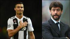 Andrea Agnelli confía en la inocencia de Cristiano Ronaldo.