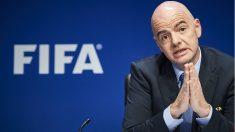 Infantino, en un reunión reciente de la FIFA. (AFP)