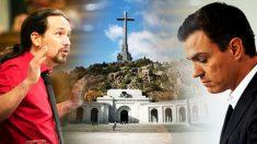 Pablo Iglesias y Pedro Sánchez y el Valle de los Caídos.