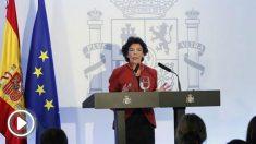 Isabel Celaá este viernes en Sevilla (EFE).