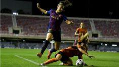 Alexia Putellas, durante un partido con el Barcelona. (Getty)