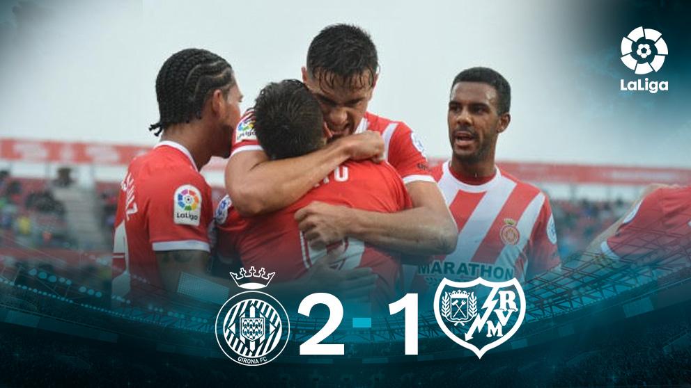 El Girona celebra un gol. (Girona)